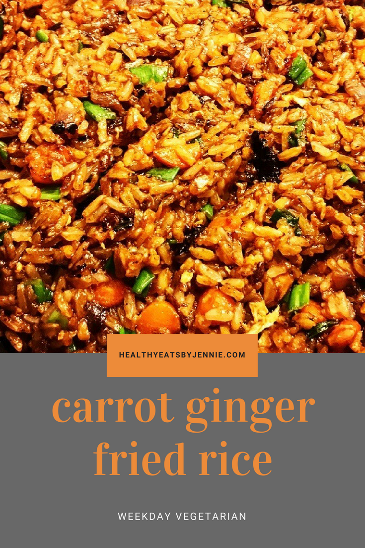 Carrot Ginger Fried Rice