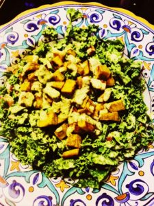 Crispy Roasted White Sweet Potatoes and Kale Salad with Tahini Dressing – Vegan Salad Recipe | Healthy Eats by Jennie