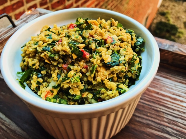 Pimento Cheese and Collards Quinoa Salad – Healthy Pimento Cheese Recipe | Healthy Eats by Jennie